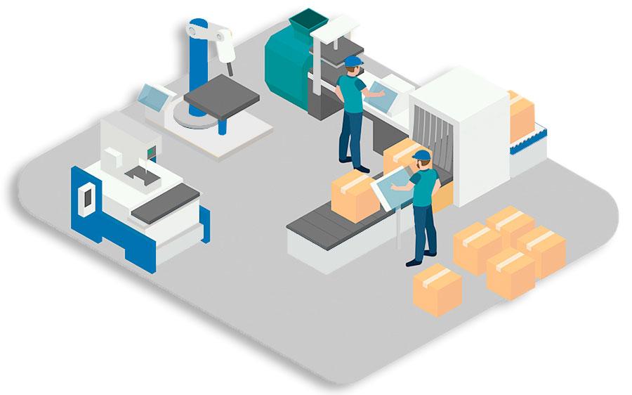 Centro producción con componentes automatización Eprom, S.A.